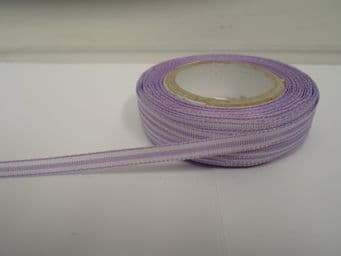 Lilac Purple pencil stripe ribbon 2 metres or full roll (25 metres) 5mm 10mm double sided